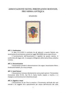 thumbnail of Statuto Associazione Rodolfi